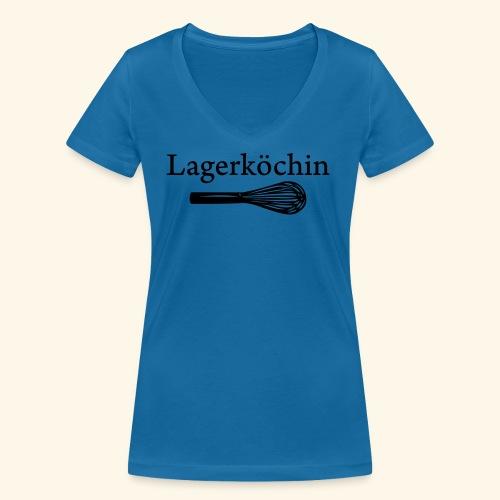 Lagerköchin, Schneebesen - Mädls - Frauen Bio-T-Shirt mit V-Ausschnitt von Stanley & Stella