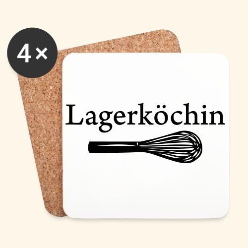 Lagerköchin, Schneebesen - Mädls - Untersetzer (4er-Set)