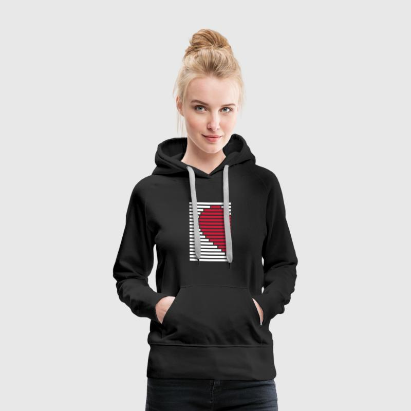 Herz Partnershirt links Pullover & Hoodies - Frauen Premium Hoodie