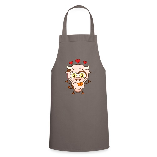 Cute cow falling madly in love Hoodies & Sweatshirts - Cooking Apron