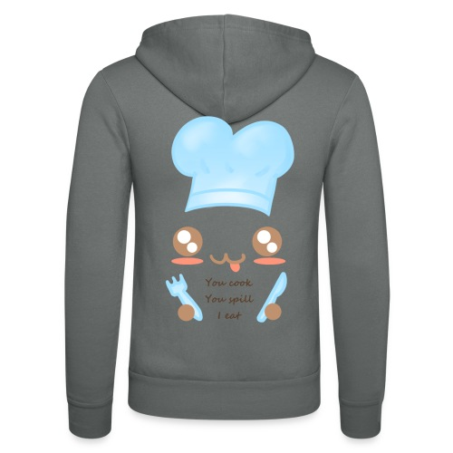 Apron: You spill, I eat - Unisex Hooded Jacket by Bella + Canvas