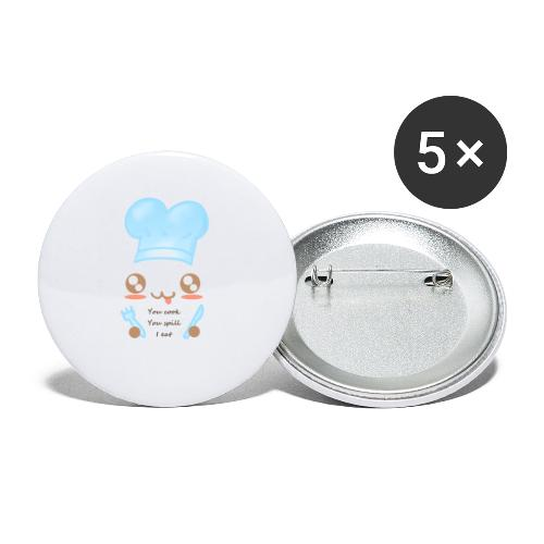 Apron: You spill, I eat - Buttons large 2.2''/56 mm(5-pack)