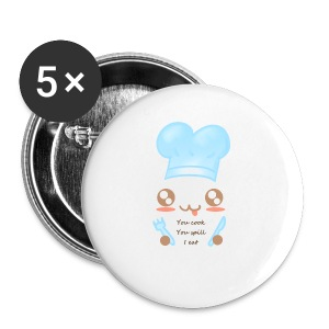 Apron: You spill, I eat - Buttons small 25 mm