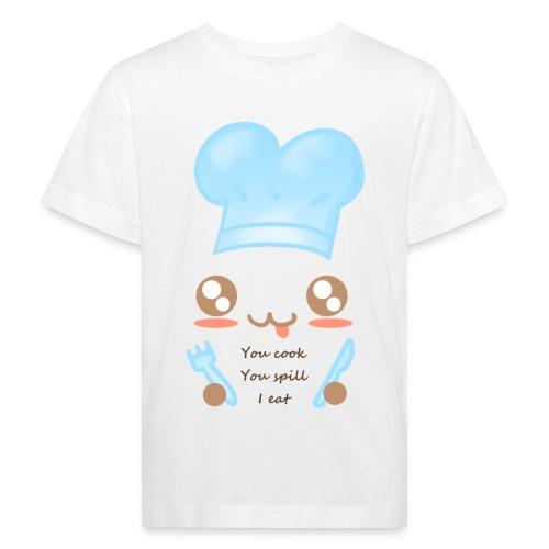 Apron: You spill, I eat - Kids' Organic T-Shirt