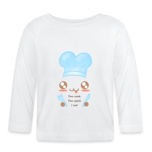 Apron: You spill, I eat - Baby Long Sleeve T-Shirt