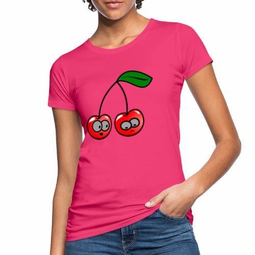 Smily Kirschen - Frauen Bio-T-Shirt