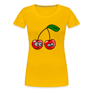 Smily Kirschen - Frauen Premium T-Shirt