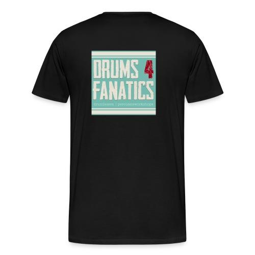 Stoere hoodie voor drummers! Kids sizes! (Kies zelf je kleur) - Mannen Premium T-shirt