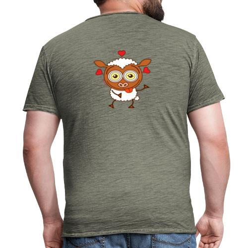 Crazy sheep feeling lucky in love Hoodies & Sweatshirts - Men's Vintage T-Shirt