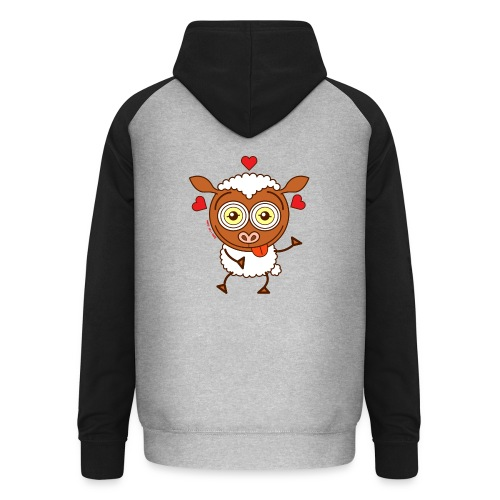 Crazy sheep feeling lucky in love Hoodies & Sweatshirts - Unisex Baseball Hoodie