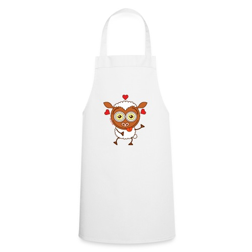 Crazy sheep feeling lucky in love Hoodies & Sweatshirts - Cooking Apron