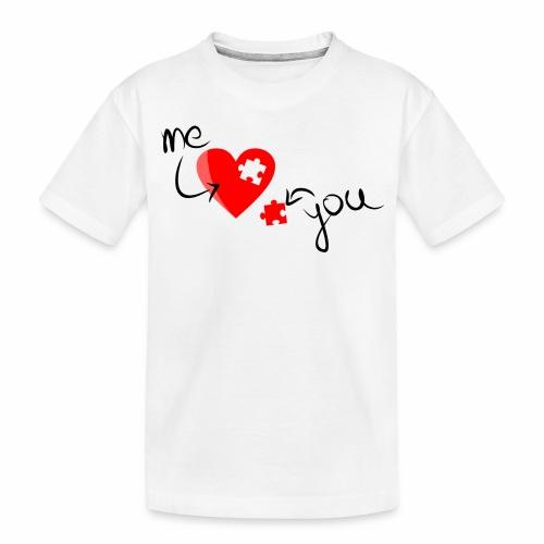 Liebe und Herzpuzzel - Teenager Premium Bio T-Shirt
