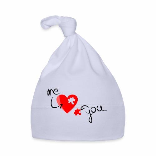 Liebe und Herzpuzzel - Baby Mütze