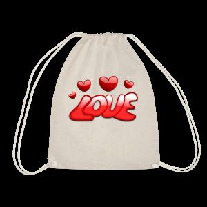 Liebe und Herzen - Turnbeutel
