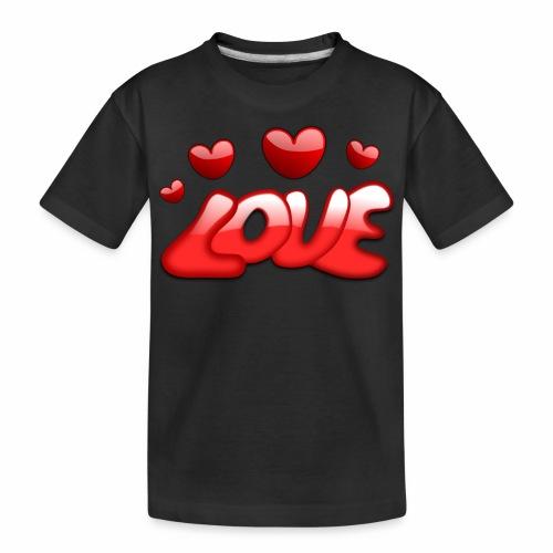 Liebe und Herzen - Teenager Premium Bio T-Shirt