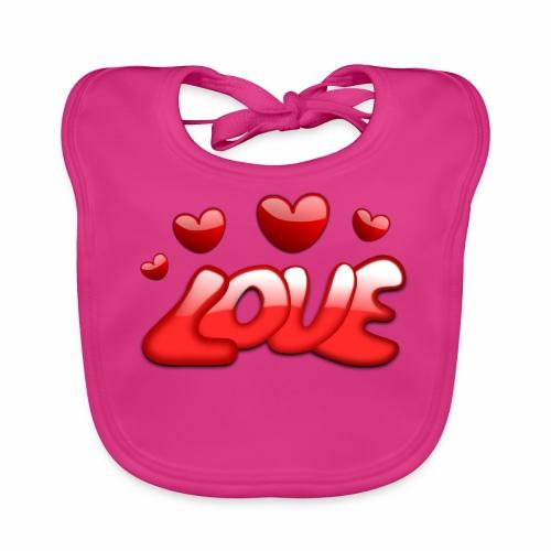 Liebe und Herzen - Baby Bio-Lätzchen