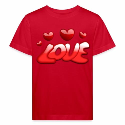 Liebe und Herzen - Kinder Bio-T-Shirt