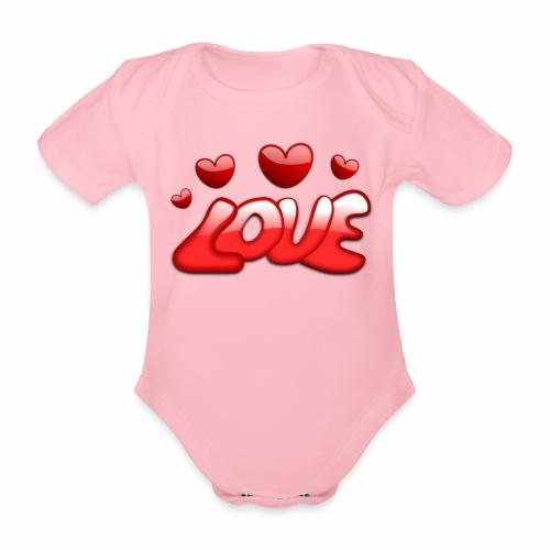 Liebe und Herzen - Baby Bio-Kurzarm-Body