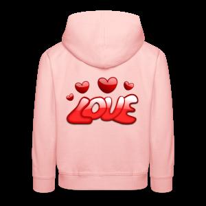 Liebe und Herzen - Kinder Premium Hoodie