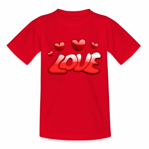 Liebe und Herzen - Kinder T-Shirt