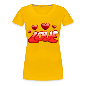 Liebe und Herzen - Frauen Premium T-Shirt
