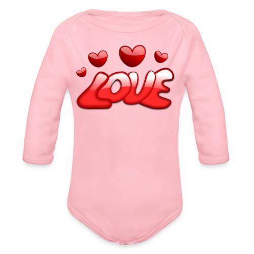 Liebe und Herzen - Baby Bio-Langarm-Body