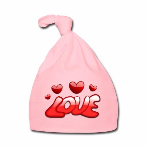 Liebe und Herzen - Baby Mütze