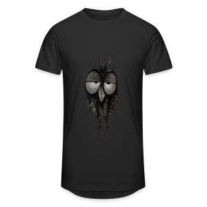 Funny Sleepy Stoned Owl - Men's Long Body Urban Tee