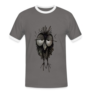 Funny Sleepy Stoned Owl - Men's Ringer Shirt