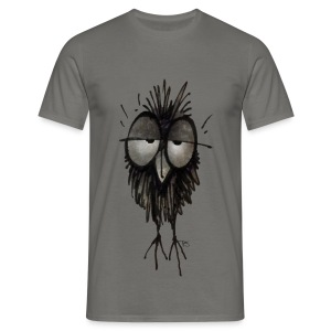 Funny Sleepy Stoned Owl - Men's T-Shirt