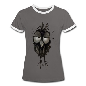 Funny Sleepy Stoned Owl - Women's Ringer T-Shirt