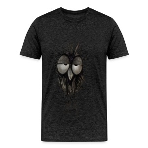 Funny Sleepy Stoned Owl - Men's Premium T-Shirt