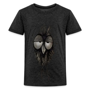 Funny Sleepy Stoned Owl - Teenage Premium T-Shirt