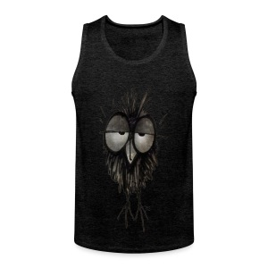 Funny Sleepy Stoned Owl - Men's Premium Tank Top