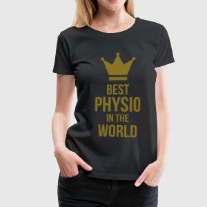 Best Physio in the world Kookschorten - Vrouwen Premium T-shirt