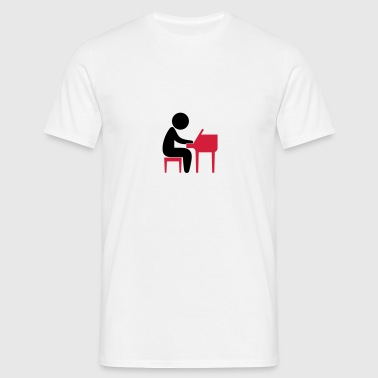A jazz musician plays on the piano Teddy Bear Toys - Men's T-Shirt
