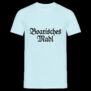 Boarisches Madl Babybody (Pink/Weiß) - Männer T-Shirt