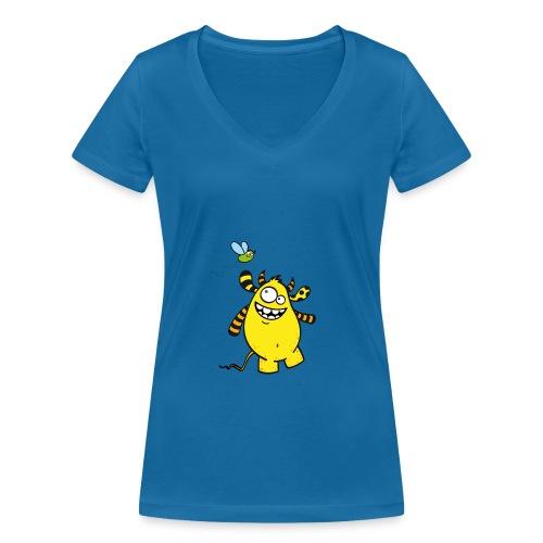 Mr Woolly Basic - Frauen Bio-T-Shirt mit V-Ausschnitt von Stanley & Stella