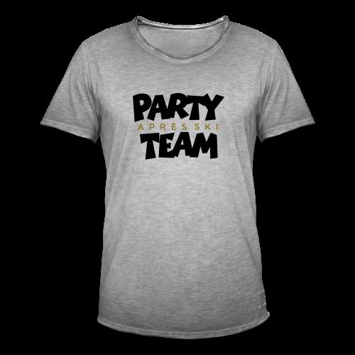 Après-Ski Party Team T-Shirt (Schwarz/Gold) - Männer Vintage T-Shirt