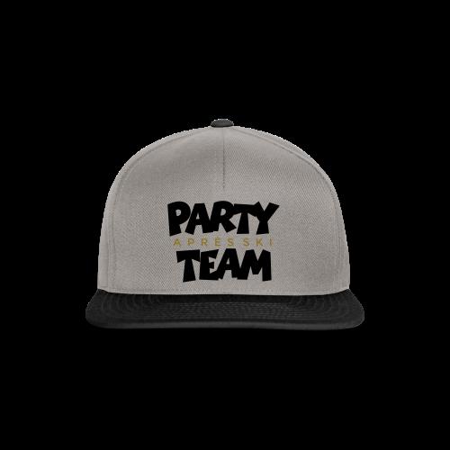 Après-Ski Party Team T-Shirt (Schwarz/Gold) - Snapback Cap