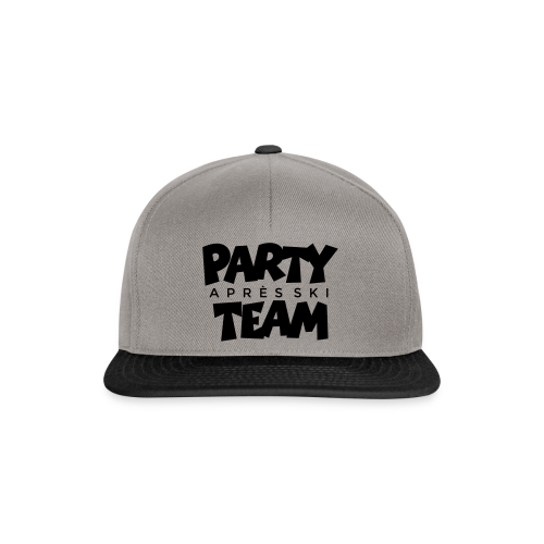 Après-Ski Party Team T-Shirt (Weiß/Schwarz) - Snapback Cap
