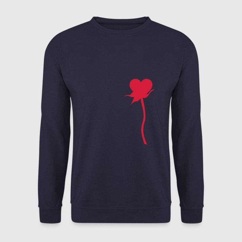 fleur rose coeur 12 Sweat-shirts - Sweat-shirt Homme