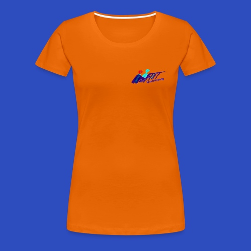 modernes Schieß-Sport Emblem  - Frauen Premium T-Shirt
