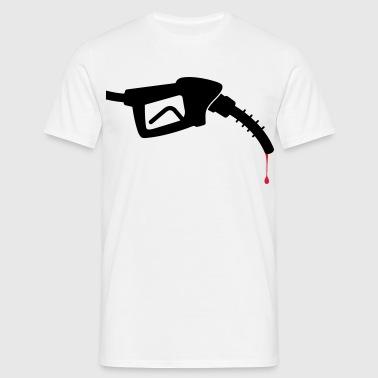 Eine Zapfpistole mit Blut Schürzen - Männer T-Shirt