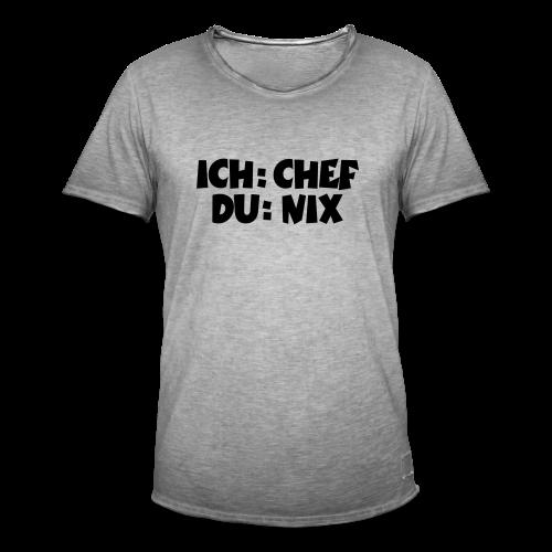 Chef T-Shirt (Weiß) - Männer Vintage T-Shirt