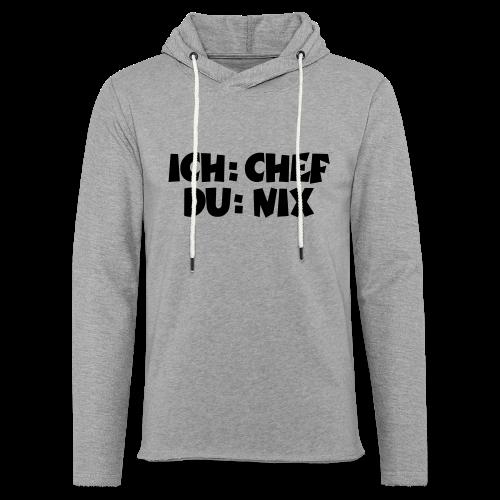 Chef T-Shirt (Weiß) - Leichtes Kapuzensweatshirt Unisex
