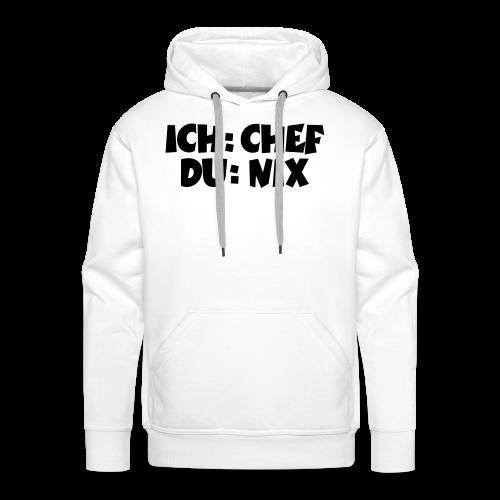 Chef T-Shirt (Weiß) - Männer Premium Hoodie