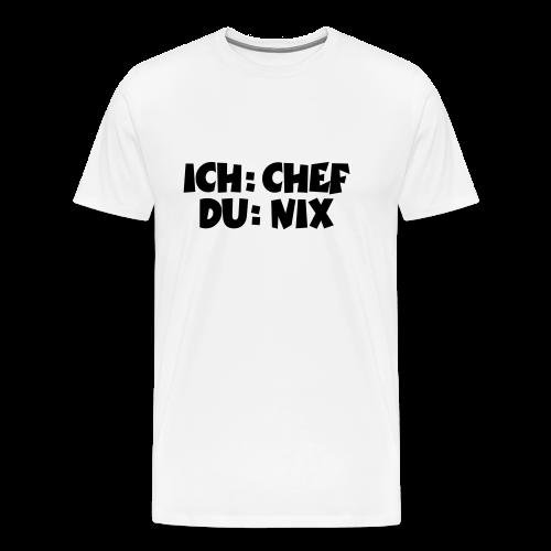 Chef T-Shirt (Weiß) - Männer Premium T-Shirt