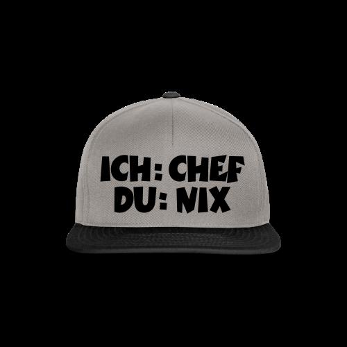Chef T-Shirt (Weiß) - Snapback Cap