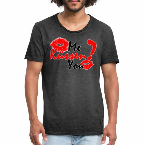 Küss mich - Männer Vintage T-Shirt